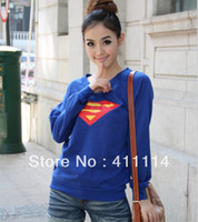 Women V-Neck Regular 2014 new fashion women clothing plus size t shirt korean style punk sexy tops tee hot trendy clothes Long sleeve Superman