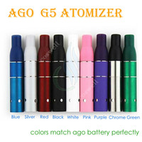 3.0ml Metal AGO G5 vaporizer Original AGO G5 Herbal Vapor Atomizer for dry herb vaporizer pen vapor cigarettes ago G5 Pen Style Ecig Suit for Cut tobcco wax Liquid Herb