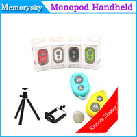 Wholesale Bluetooth Remote Shutter Bluetooth Remote Camera Control Self timer Shutter for iPhone S C for Galaxy S5 Note3 for IOS and Android