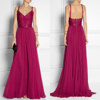 V-Neck art fashion draping - 2016 Burgundy Long Evening Dress V Neck A Line Long Sweep Train Chiffon Sexy Backless Sash Maxi Party Gowns Modest Formal Gowns