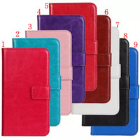Wholesale Soft Feel Crazy Horse Shock Proof Durable Wallet Stand Leather Case Cover Plastic Flip Skin For Samsung Galaxy S5 Mini With Card Holder