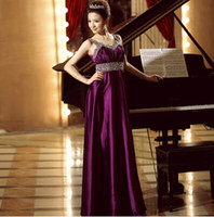 Reference Images Sweetheart Chiffon Free Shipping Manual Sequined Dresses Purple Long Evening Dress Full-length Empire Skirt Special Evening Dresses Prom Dresses