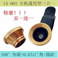 Be Optical lens lesung Patent iphone4s 5 Samsung Universal triple clamps fisheye wide macro cell phone camera lens