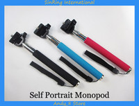 Mini Monopods metal  Z07-1 Extendable Handheld Self Portrait Monopod selfie Stick With Phone Holder Perfect uesd with Remote Bluetooth Wireless Shutter