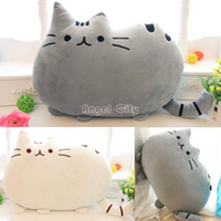 Girls 0-12 Months Gray Novelty cute soft plush stuffed animal doll baby anime toy pusheen cat for girls kawaii cushion pillow birthday gift#10 SV004167
