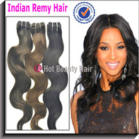Indian Hair beauty wavy hair - 13pcs Indian wavy hair Human hair weave Extension Color1b Hot beauty hair products