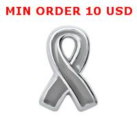 cancer charms - BRAIN CANCER AWARENESS RIBBON Floating charms for memory locket