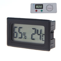 Digital thermo - 100pcs Mini Digital LCD Thermometer Hygrometer Humidity Temperature Meter thermo hygrometer Indoor H10304
