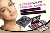 Wholesale maxi freeshipping m576 Cosmetics box makeup sets colors eye shadow colors lip gloss four colors sun red colors powder