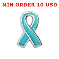 Wholesale OVARIAN CANCER AWARENESS RIBBON Floating charms for memory locket