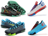 Wholesale 2014 New Kevin Durant VI Kd Mens Basketball Kd6 Shoes Size With Tick Swoosh