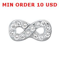 Wholesale CRYSTAL SILVER INFINITY Floating charms for memory locket