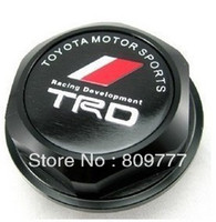 Wholesale Billet Aluminum TRD logo Engine Oil Filler Cap Fuel Fill Tank Cover Black fit most Toyota model