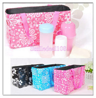 Wholesale Mother Bag Outdoor Baby Diaper Bag Celles Nappies Clothes Bottle Nappy Storage Organizer Tote