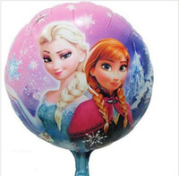 Wholesale New Christmas Cartoon Frozen Helium Balloons Bubble Foil Aluminium Coating Round Balloon cm Toys For Kids Birthday Party Decoration