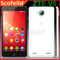 WCDMA Quad Core Android ZTE V5 5.0 Inch Sharp CGS Screen 1280*720 MSM8926 1.2GHz Android Cell Phone smartphone Quad Core 2G RAM 8GB ROM Android 4.3 Multi language