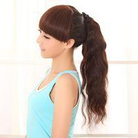 Dark Brown human hair ponytail - 100 human hair ponytails curl piece