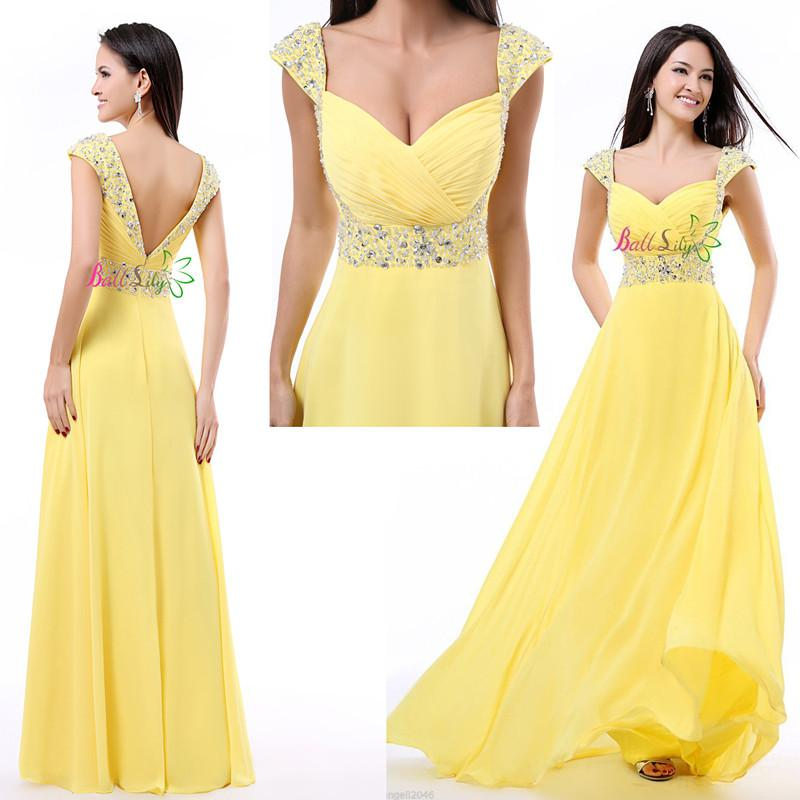 Yellow Prom Dresses Under $160 75