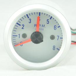 Wholesale 2 quot mm Car Rev Counter Tacho Tachometer Pointer Gauge Meter RPM Amber pods