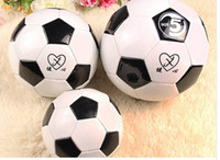 Wholesale Pu Soccer classic black and white piece of football training of football free ship
