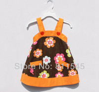 Cheap Retail Fashion 2014 Flower Vestido Infantil Child Dress for Summer Casual Girls Clothes Baby Outfit Kids Wear Toddler Clothing