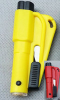 Wholesale Drop Shipping Hight quality in Hammer LED Knife Keychain Car Emergency Rescue Tool Window Glass Breaker Seat Belt Cutter