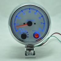Wholesale 3 inch Black shell white light LED achometer gauge RPM car auto meter EL gauge