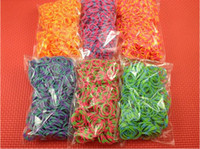 Unisex 5-7 Years Multicolor Wholesale - Rainbow loom Rubbers Glitter & Glow in the dark & Metallic & tie-dye Rubber bands (300bands+12pcs s chips ) with retail box 500