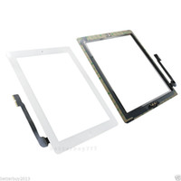 Wholesale FREE DHL black white for iPad Touch Screen Glass Digitizer Assembly Home Button Adhesive TOOL