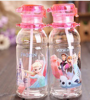 Wholesale Create snow and ice FROZEN ice kettle adventures in children s summer Plastic cartoon cup sippy cups