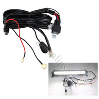 Wholesale 4X Auto Wiring Harness Kit LED HID Light Bar Wire Switch Plainless Relay For w w