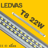 Wholesale LEDVAS W T8 LED Tube SMD led Light Lamp Bulb mm m Ft AC85 V Lights Led Lighting Year Warranty