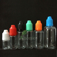 Wholesale Wholesale100 Clear PET Bottle With Caps ml Dropper Bottles Plastic Eye Dropper Bottles oils CHILD PROOF