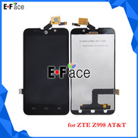 For Chinese Brand LCD Screen Panels Black Wholesale Q0208 - 10 pcs lot LCD Display Touch Screen Digitizer without frame For ZTE Z998 AT&T - Free DHL Shipping