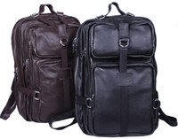 leather duffel bags - ree shipping genuine leather backpacks traveling bag quot Laptop bag Backpack large capacity luggage duffle gym Hiking Bags A3034