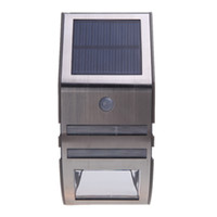 Wholesale Garden Yard Pathway Outdoor Stair Step Solar powered Light with SMD LEDs Polycrystalline Solar Panel PIR Sensor H11082