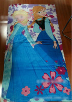 Wholesale 8 off Pure cotton Cartoon images kinds of styles Frozen Anna Elsa Children bath towel Beach towel CM DROP SHIPPING LY