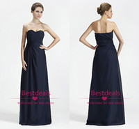 Reference Images Sweetheart Chiffon Dark navy sweetheart neckline chiffon mother of the bride dresses 2014 A line floor length formal evening gowns party dresses CPS059