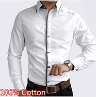 Wholesale New high quality cotton men dress shirt Spring and Autumn men s casual long sleeve slim fit social shirts