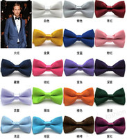 Wholesale bowties men s ties men s bow ties men bow tie pure color bowtie CA07001