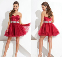 2014 Summer Fall Short Satin and Tulle Homecoming Dresses 20...