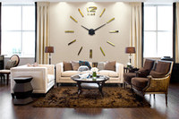 Wholesale DIY acrylic mirror wall clock daily personal customization living room wall clock craft clock DZ0023