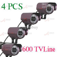 Outdoor CCD  ANRAN- - 4pcs 1 3' Sony CCD 600TVL High Resolution 84IR CCTV Camera AR-804P