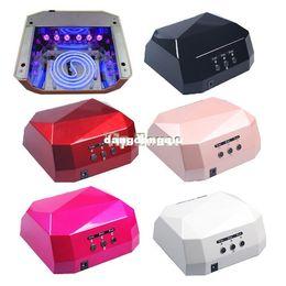 Wholesale New Long Life W Nail Art LED UV Gel Cure Curing Lamp Dryer Timer Polish Tool V Colors SV003773
