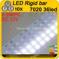 Wholesale 10pcs Hard Rigid led Bar light DC12V cm led SMD Aluminum Alloy Led Strip light white For Cabinet Jewelry Display