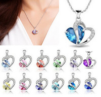 NEWEST 11 Colors Occident Style 925 Sterling Silver Necklace...