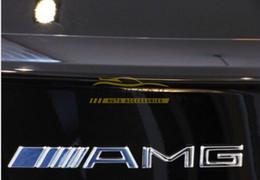 Wholesale 10x Metal Silver Chrome M AMG Decal Sticker Logo Emblem New Hot Good quality Car Badges
