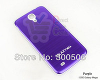 For Samsung Metal Yes Brushed Aluminum battery cover Case for Samsung GALAXY Mega 6.3 i9200 Mix color 50pcs wholesale