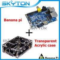 Wholesale Original Banana Pi A20 ARM Cortex Dual Core Memorry GB DDR3 Android Transparent Acrylic Case Box