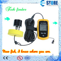 Wholesale Portable Wireless Sonar Fish Finder Depth Underwater Fishing Camera Sounder Alarm Transducer Fishfinder m wu